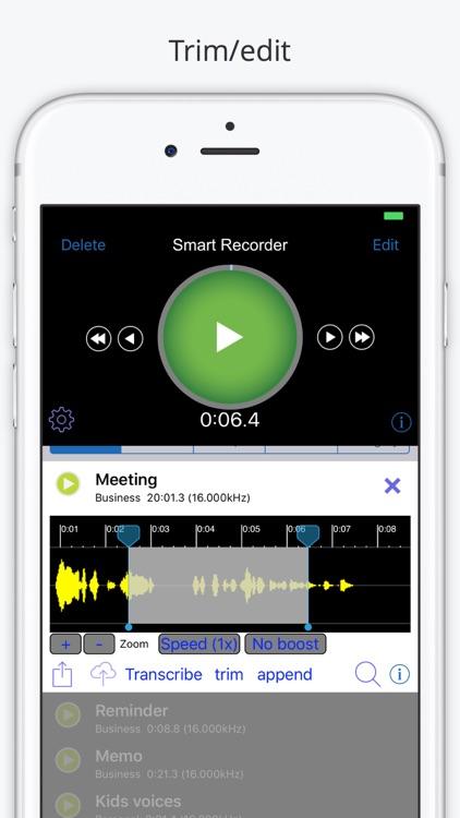 Smart Recorder and Transcriber Gray screenshot-3