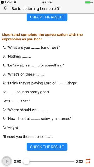 iphone ingilizce dinleme