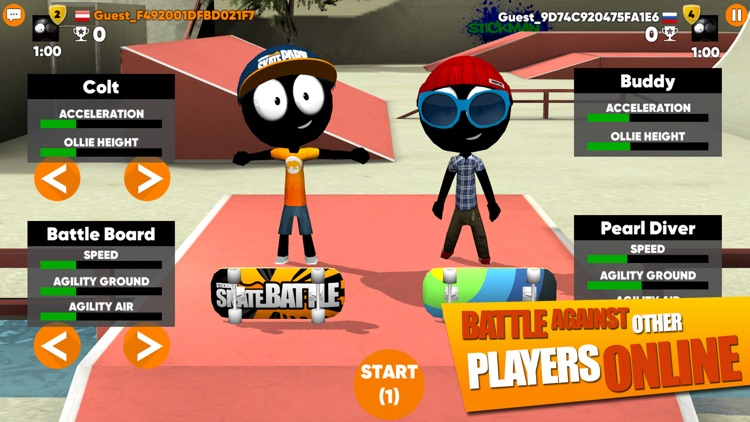 Stickman Skate Battle screenshot-3