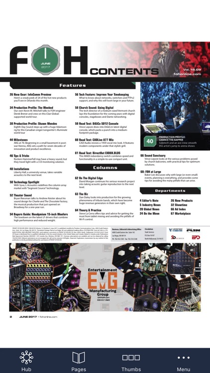 FRONT of HOUSE (FOH) Magazine screenshot-1