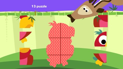 Fun Jungle Animals - Puzzles and Stickers for Kids screenshot four