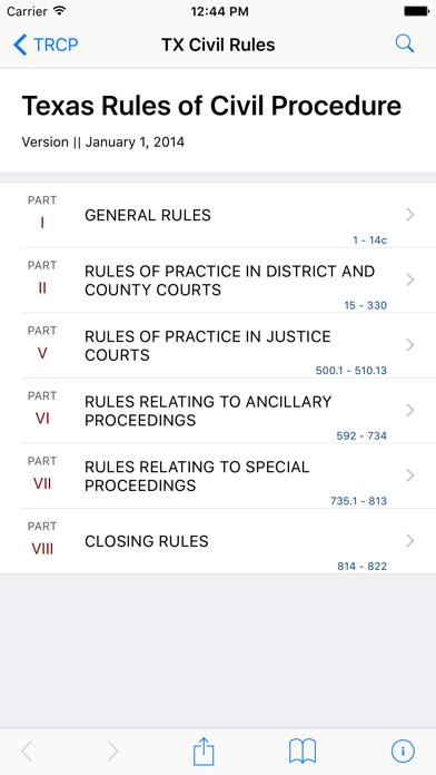 Texas Rules of Civil Procedure (LawStack's TX Law) screenshot one