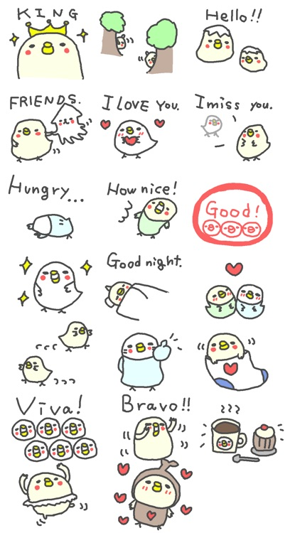 English Bird Stickers!