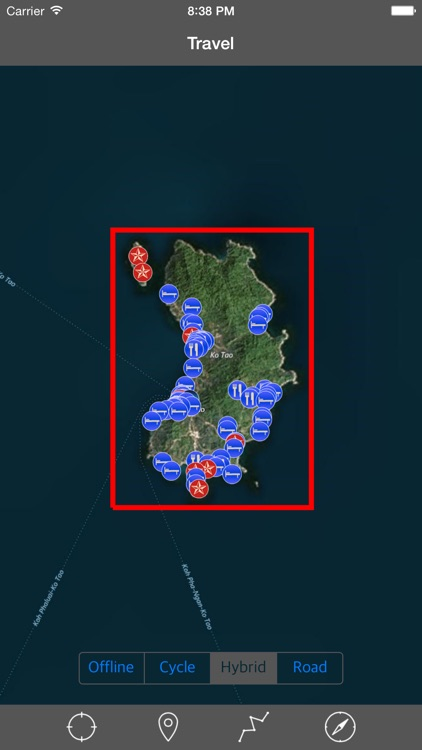 KO TAO (THAILAND) – GPS Travel Map Navigator