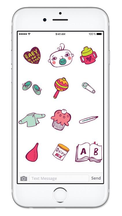 Baby Stuff Icons New Mom Sticker Pack screenshot-4