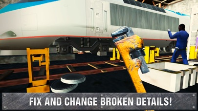 Railway Train Mechanic Workshop Sim screenshot two