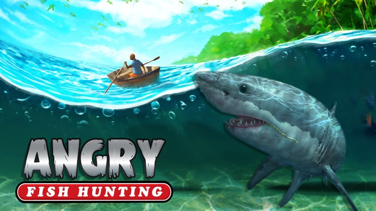 Angry Fish Hunting - Sea Shark Spear-fishing Game