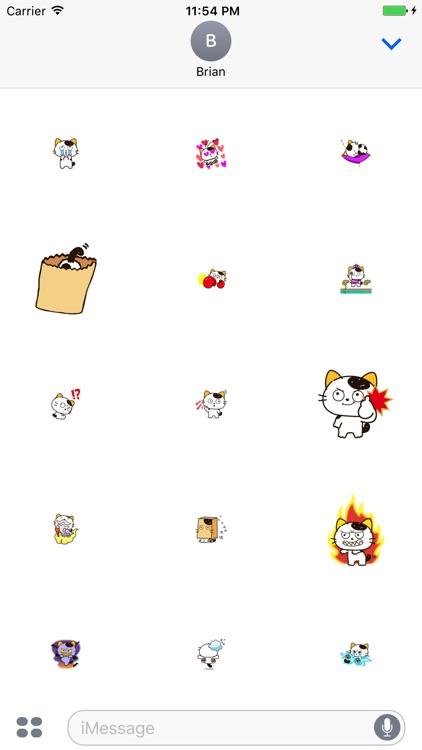 Fun Yellow Ear Cat Stickers