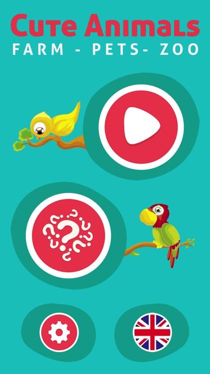 Cute Animals - Learn Animal Sounds, Noises & Names screenshot-3