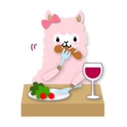 Adorable Alpaca Emoji Sticker
