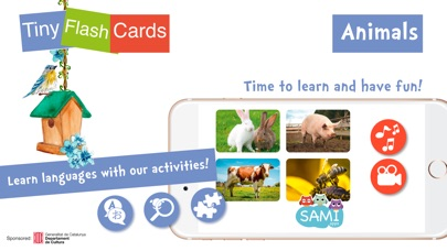 Screenshot #6 for Sami Tiny FlashCards Animals 6 languages kids apps