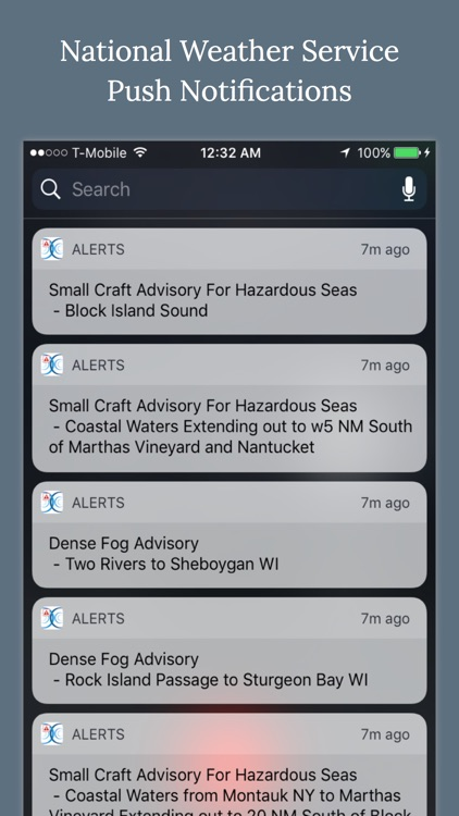 NOAA Marine Weather Forecast Alerts & Warnings