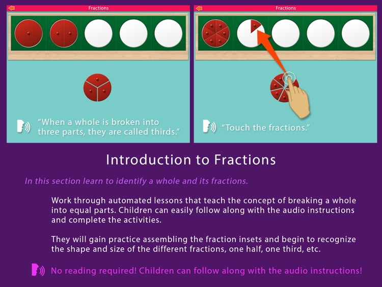 Preschool Fractions - Montessori Math for Kids