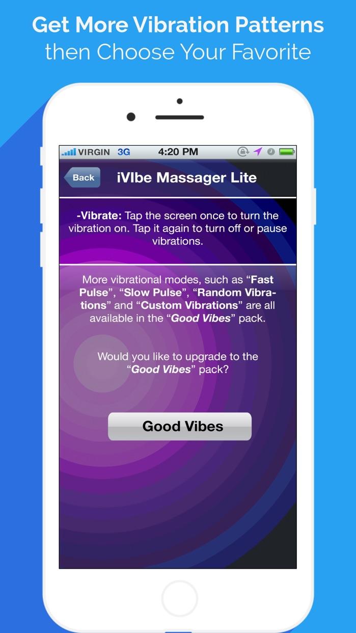 iVibe: Vibrating Vibe Massager Screenshot