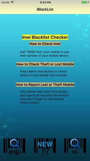 iMei Blacklist Checker on the App Store