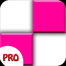 Pink Piano Tap - white music Tile