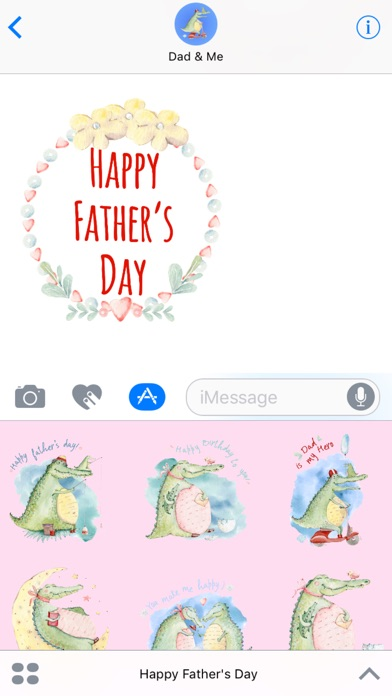 Dad & Me - Father's Day Watercolor Stickers
