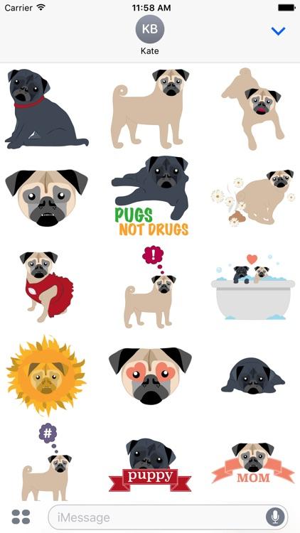 Pug Love Sticker Pack