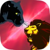 Black Panther VS Lion : Wild Volleyball