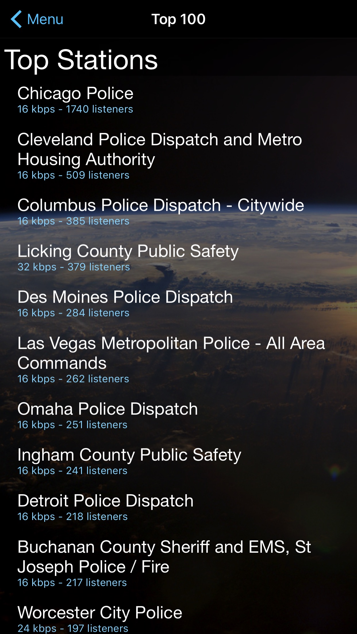 Police Scanner. Screenshot