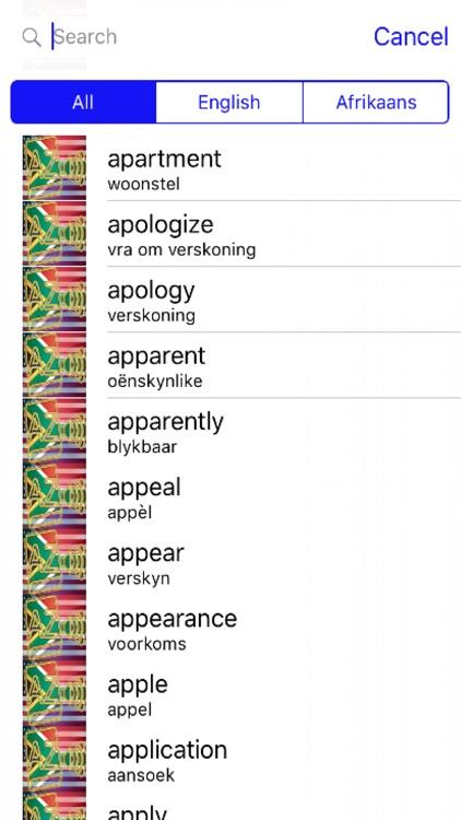 Afrikaans Dictionary GoldEdition screenshot-3
