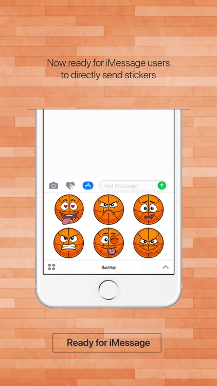 BasMoji - basketball emoji & stickers keyboard app screenshot-2