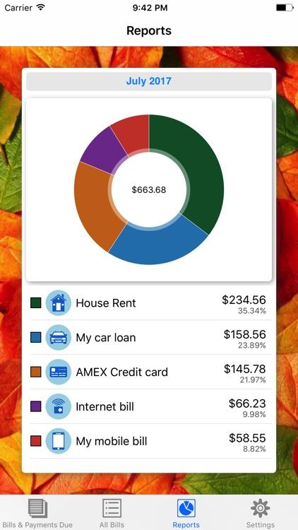 Bills Due, Bill Pay Reminders, Tracker & Organizer screenshot-3
