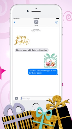 Happy Birthday Greetings Emoji Stickers 4