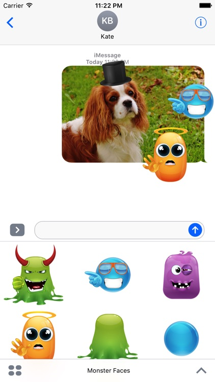 Monster Emoji Face Stickers