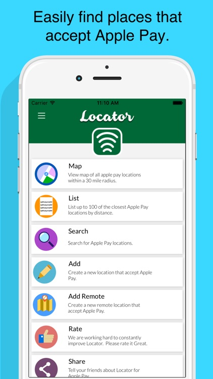 Locator for Apple Pay No Ads
