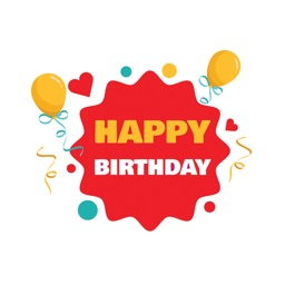 Happy Birthday Celebrate Cards for iMessage