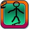 Stick-man Paper Skateboarding Extreme Game 2