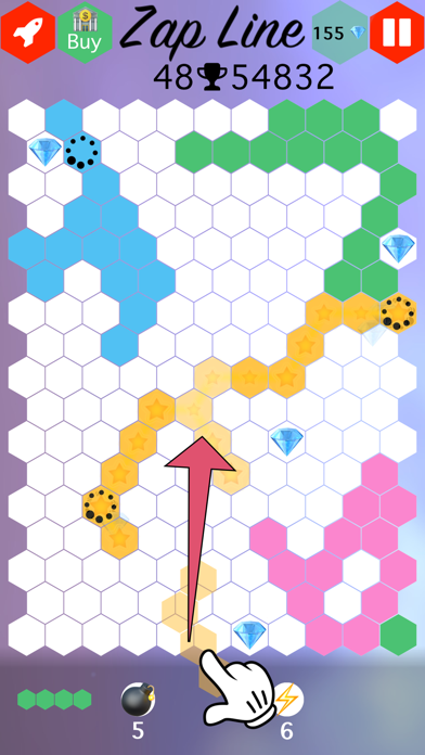Zap Line : Connect the Ends Puzzle Game screenshot one
