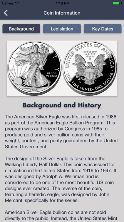 Silver Eagles - Coin Guide & Collection Tracker