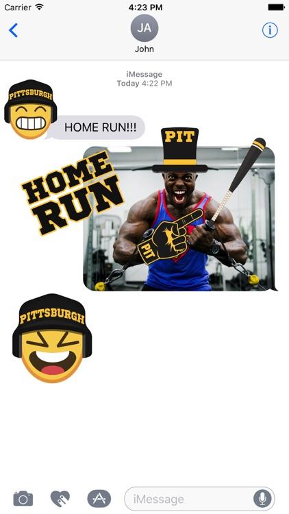 Pittsburgh Baseball Stickers & Emojis