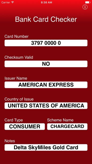 Bank Card Checker review screenshots