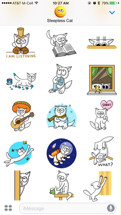 Sleepless Cat Stickers