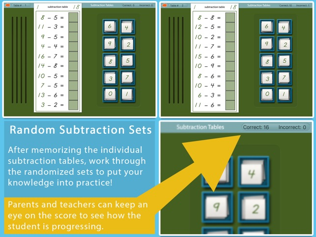 Montessori Subtraction Tables On The App Store