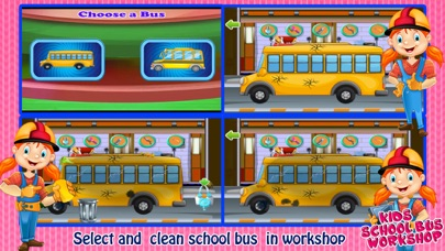 School Bus Wash And Repair - kids Game screenshot two
