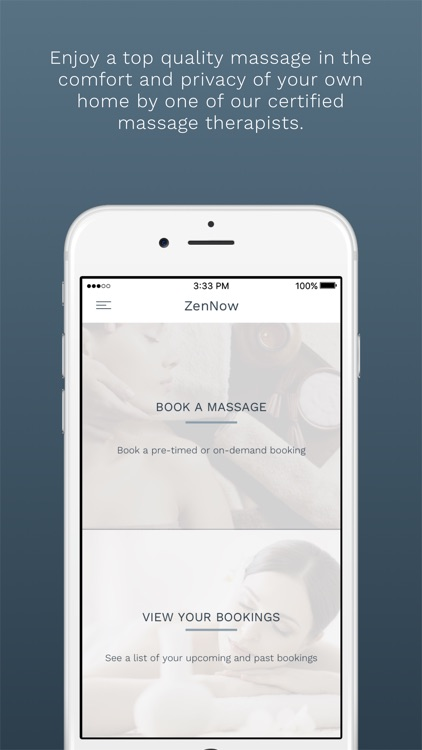 ZenNow: In-Home and On-Demand Massages