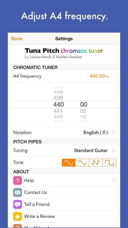 Tuna Pitch - chromatic tuner screenshot-4
