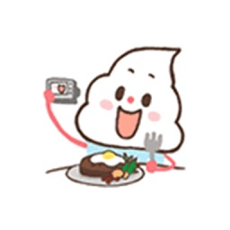 Animation Custard Cake Sticker