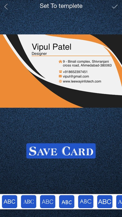 Business Card Maker - Design a Business Card screenshot-3