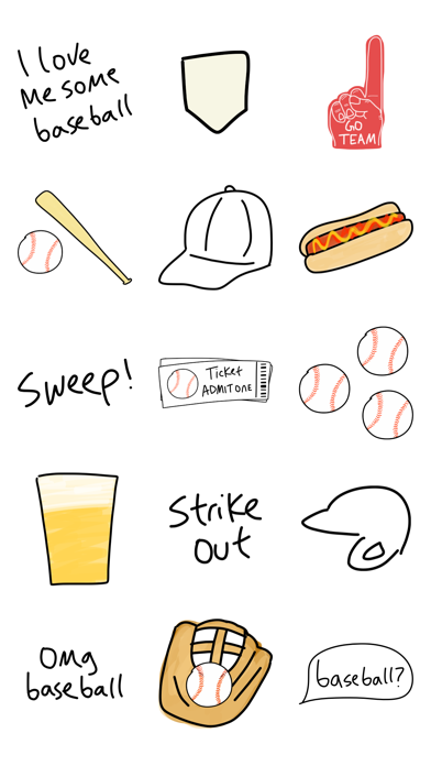 Baseball sticker, sport game stickers for iMessage screenshot three