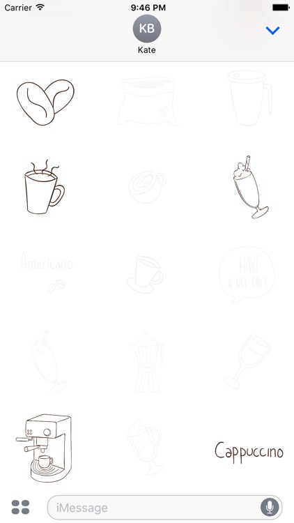 Animated Cute Coffee Stickers