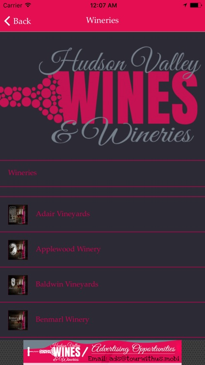 Hudson Valley Wineries & Wines