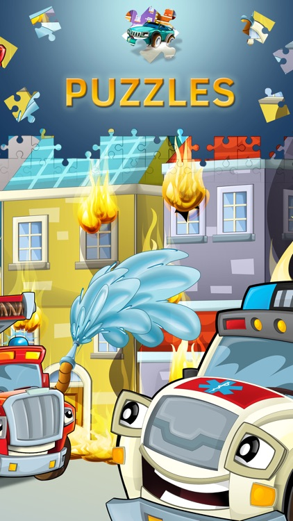 Cartoon Cars Puzzles for Kids