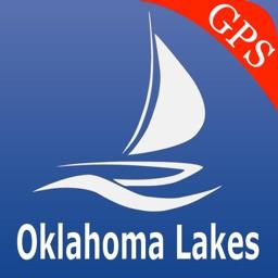 Oklahoma lakes GPS nautical charts