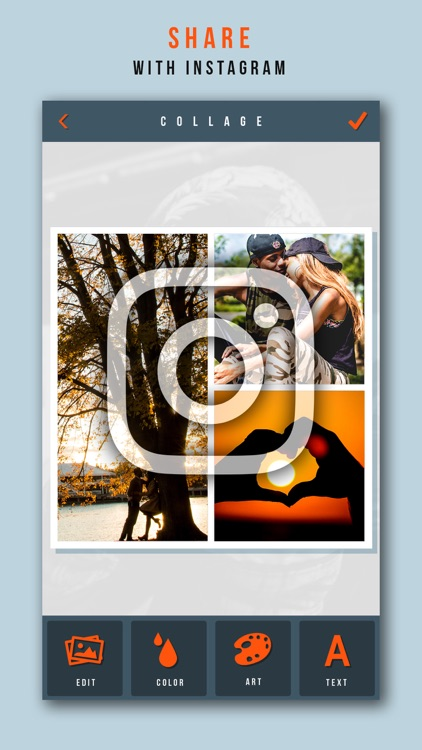 Photo Collage+ Create Picture Grids for Instagram screenshot-4