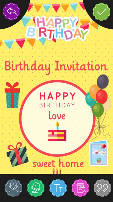 Custom Birthday Invitation Card maker screenshot one